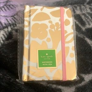 Kate Spade Golden Floral Notebook